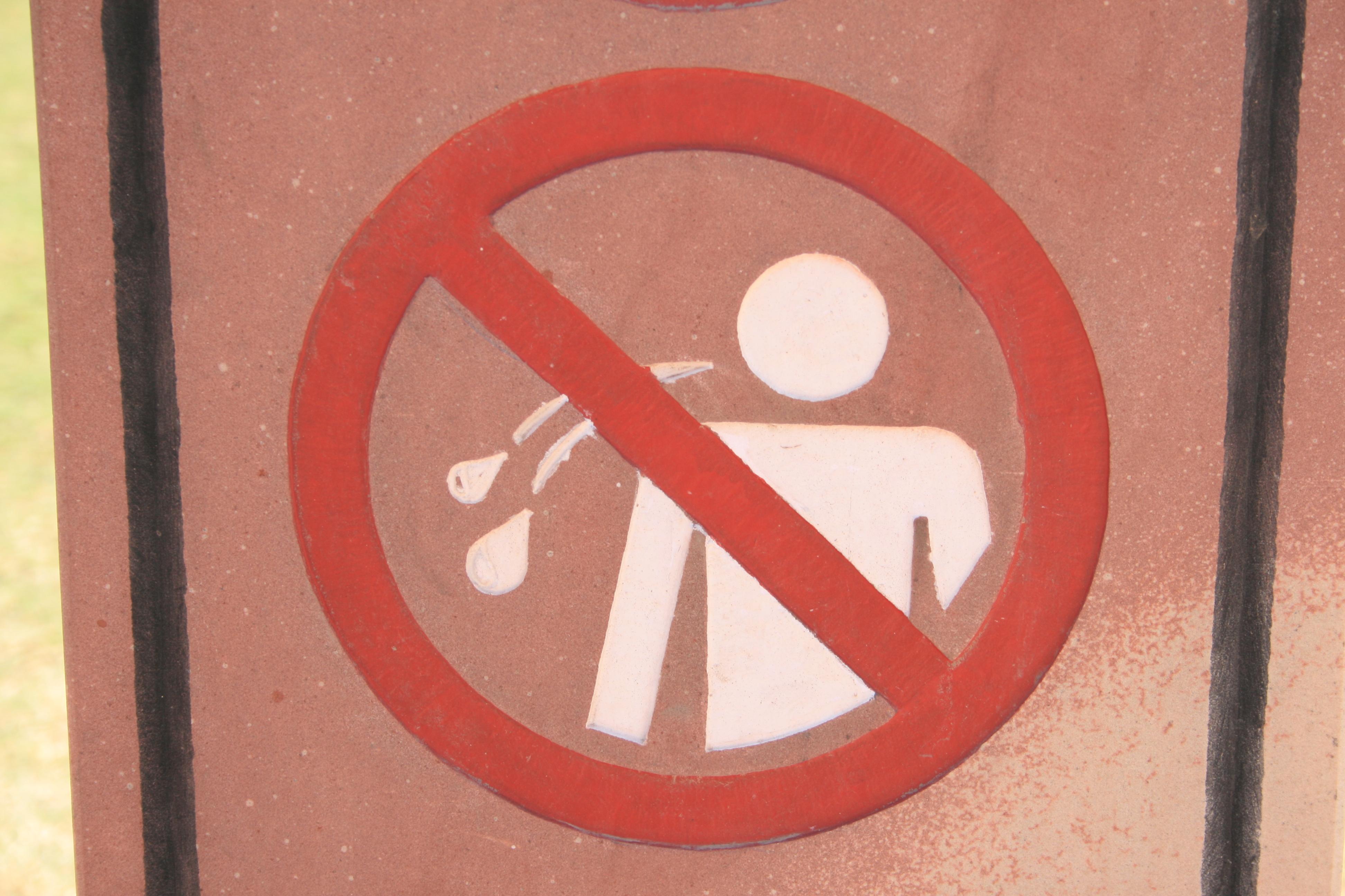 Don't spit!